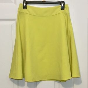 The Limited Chartruese A-Line Skirt Small Flare